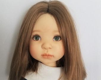 Cap Doll Wig Size 10-11 fits American Girl ++ Brown Full Adj Monique JUDY Lt
