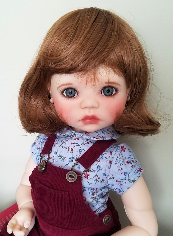 Monique ELLOWYNE Rose Wig Red Brown Size 7-8 MSD BJD shown on My Meadow Bailey