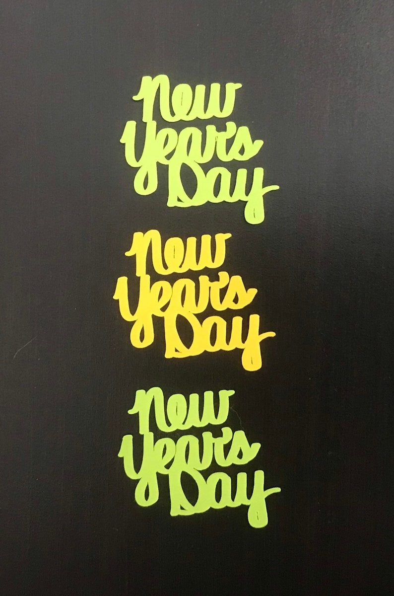 New Year/'s Theme card making New Year/'s Day 50-piece confetti word phrase  for scrapbooking party decorations