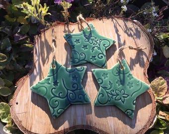 Swirl Star Ornaments