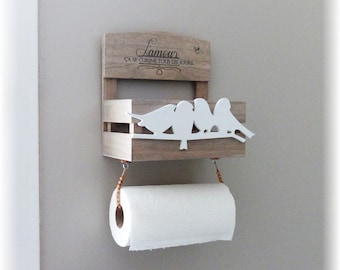Towel holder wood stain