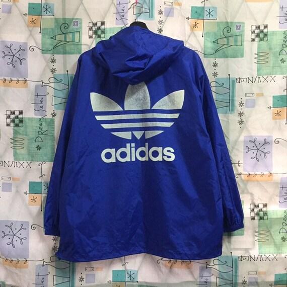 ADIDAS vintage 90s Adidas big logo windbreaker hoodie jacket