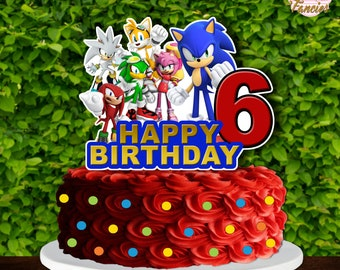 Personalised Acrylic Childrens Cartoon Hedgehog Birthday Cake Topper Decoration