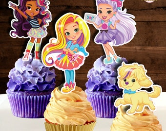"""Sunny Day Birthday Cake Round comestibles glacé Icing Frosting 7.5/"""" 8 Cupcake"""