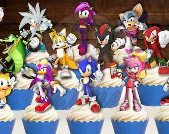 Sonic The Hedgehog Cake Topper Etsy