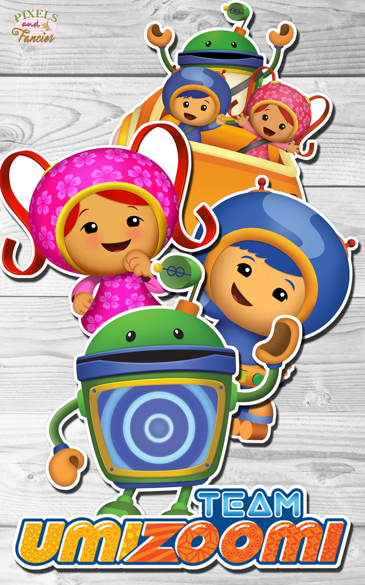 Team Umizoomi Centerpieces Cake Topper