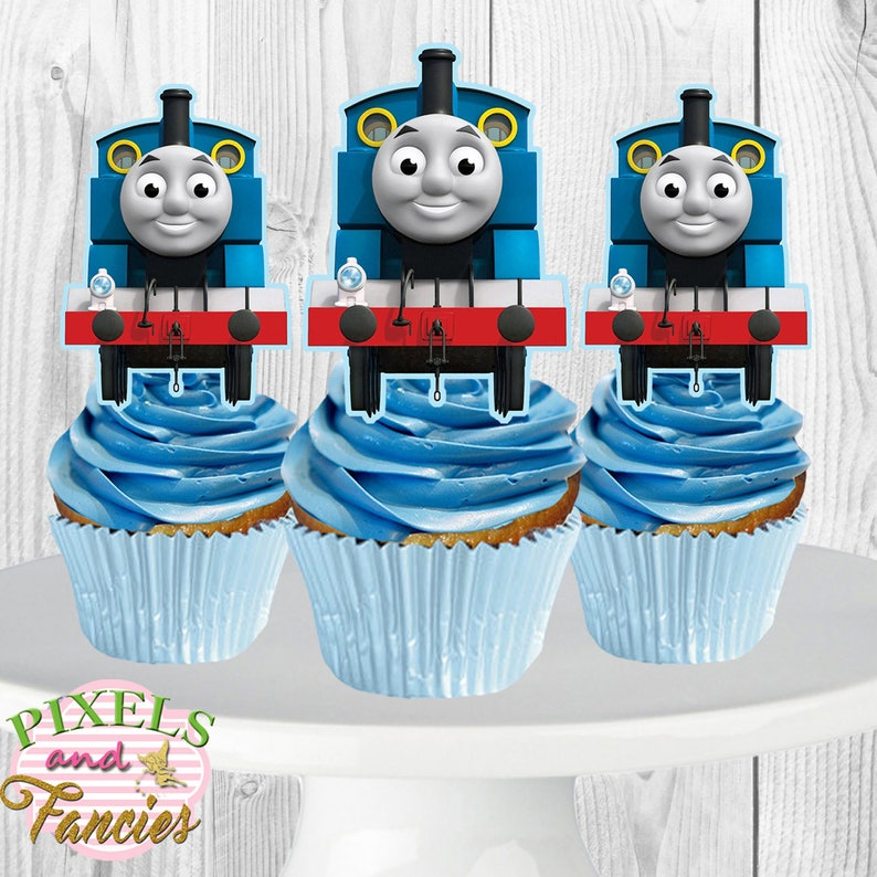 image regarding Free Printable Thomas the Train Cup Cake Toppers referred to as Thomas the Educate Cupcake Toppers, Thomas Cupcake Toppers, Thomas the Prepare Cupcake Selections, Thomas the Practice Cake Pop Topper, PRINTABLE