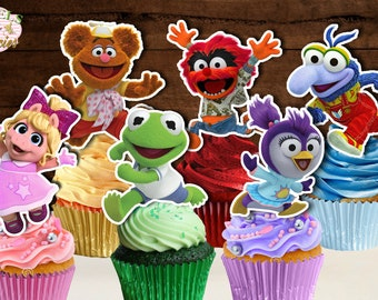 PRINTABLE Muppet Babies Cupcake Toppers, Muppet Babies Cupcake Picks, Muppet Babies Cake Pop Topper, Muppet Babies Cake Topper