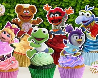 MUPPET BABIES Cupcake Toppers, Muppet Babies Cupcake Picks, Muppet Babies Cake Topper, Muppet Babies Cake Pop Topper