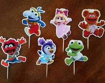 MUPPET BABIES Cupcake Toppers, Muppet Babies Cupcake Picks, Muppet Babies Cake Topper, Muppet Babies Cake Pop Topper