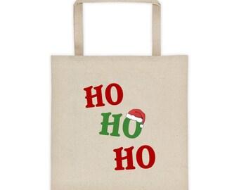 christmas tote bag ho ho ho shoppers bagholiday book bag fun totes reusable christmas grocery bags school book bag picnic bag
