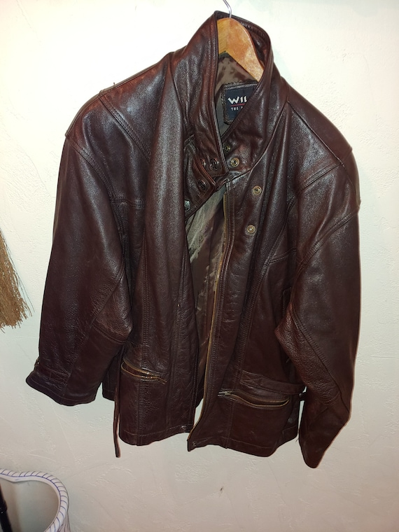 Wilsons  Leather Brown Woman L Jacket used