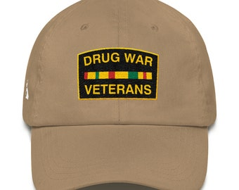Drug War Veterans Dad Hat 99c23278c81a