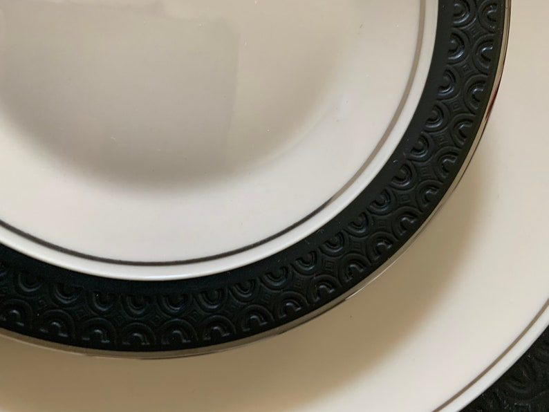 And Saucers Franciscan China\u2019s Midnight Mist Dinner Plates Bread Plates
