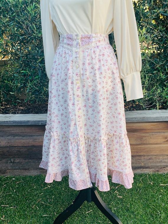 Vintage Gunne Sax Floral Maxi Skirt