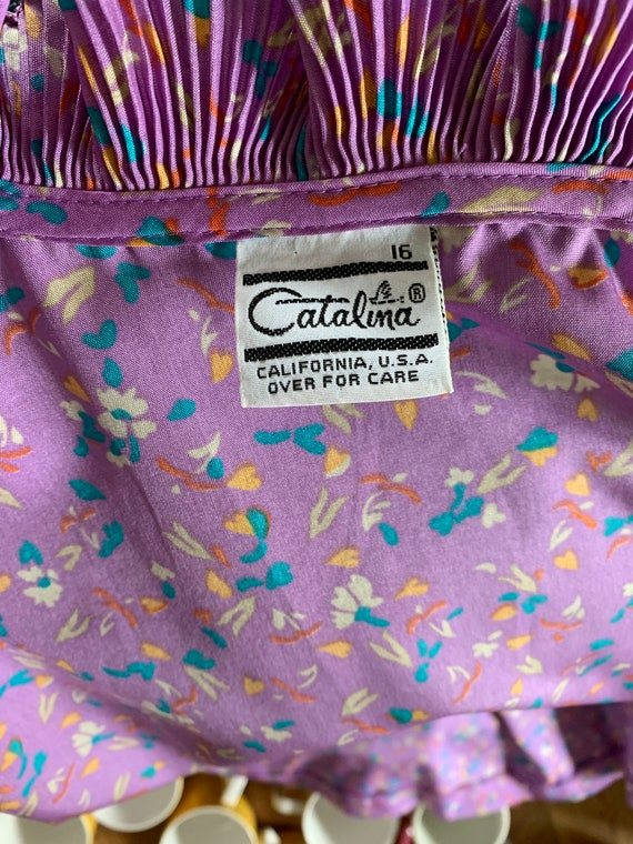 Vintage Catalina Button Up Statement Blouse With … - image 5