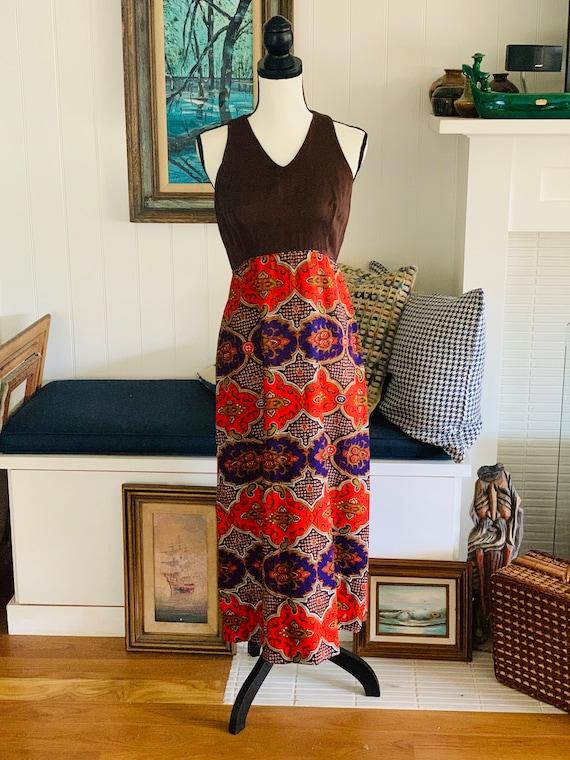 Vintage 1960's Keola Hawaiian Mxi Dress From Liber