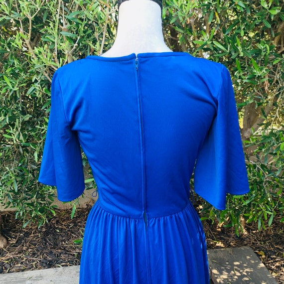 1970's Blue Alfred Shaheen Dress - image 10