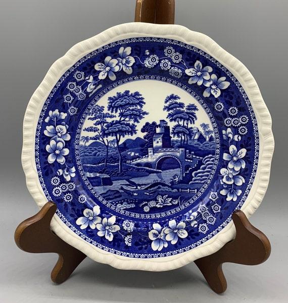 Spode TOWER BLUE Dinner Plate Older Backstamp Vintage signs of use GREAT VALUE