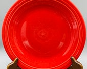 Fiesta Scarlet Dinner Plates, Salad Plates, Mugs, Cheese Shaker and Cups From Homer Laughlin Sold Individually