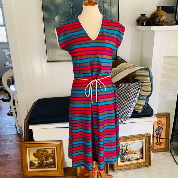 Vintage Oops California Striped Tank Dress