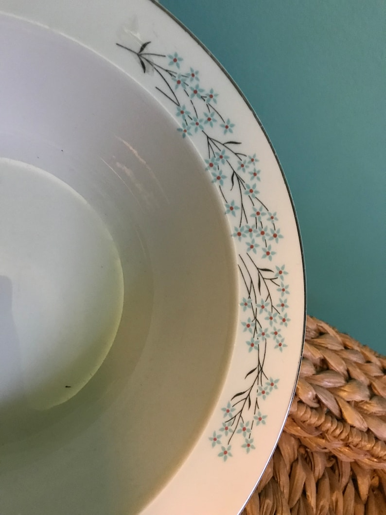 Sears\u2019 Harmony House Dinnerware Pieces In Crestwood Design 1960\u2019s Floral Serving Bowl