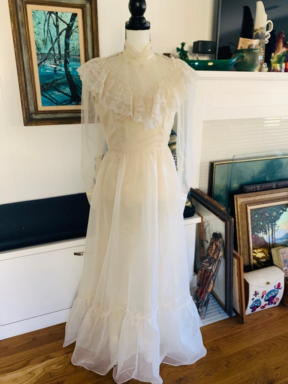 Vintage 1960's Prairie Prom Dress By Candi Jones o
