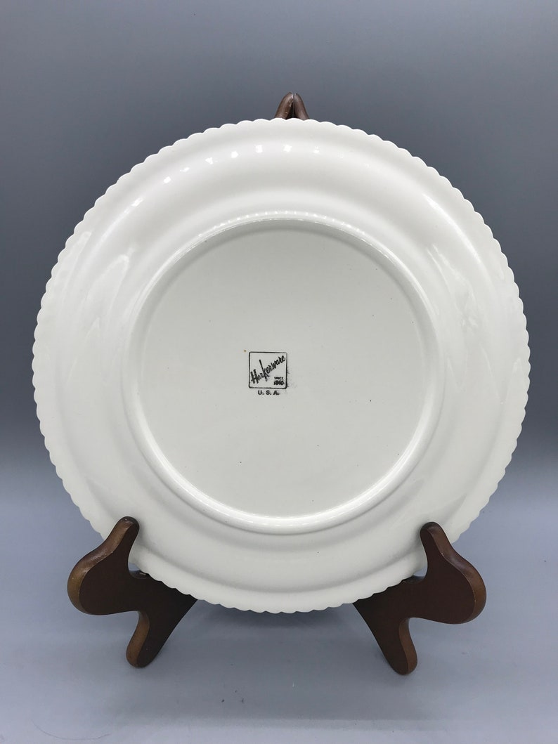 Harker Pottery\u2019s Currier And Ives Dinner Plates and