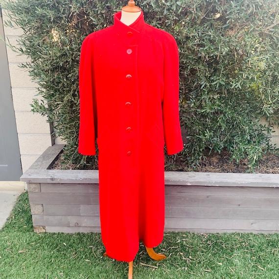 Vintage Pendleton Red Wool Overcoat