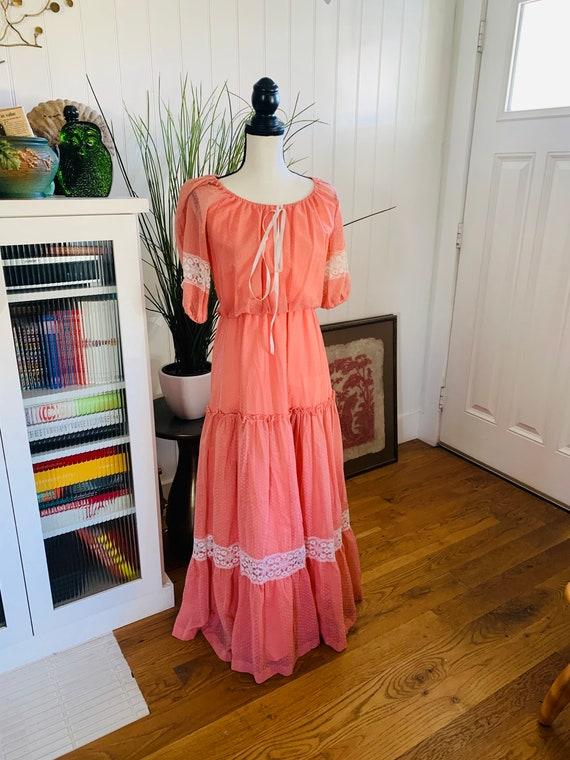 Roberta of California Poplin Prairie Dress