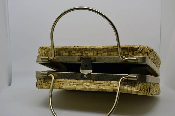 Vintage-walletlady/'s handbag-Womens 1950s60s Vintage Rattan Retro Handbag