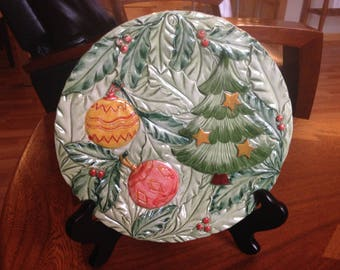 Vintage Hand Made Holiday Plate | Made in Italy