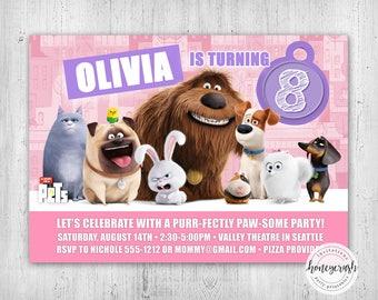 Secret Life of Pets Birthday Invitation - Printable Digital File