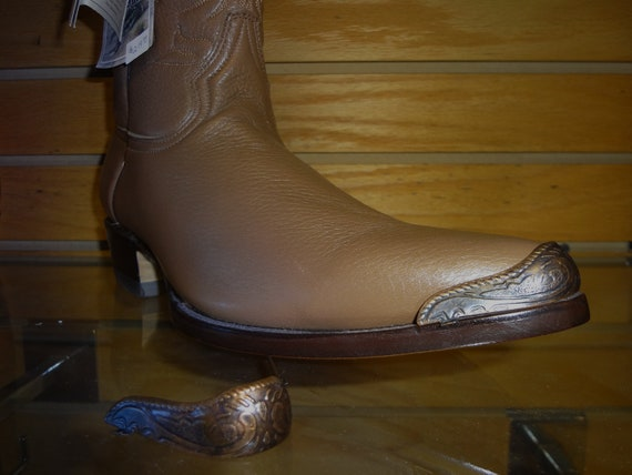 New Shiny Gold colored Cowboy Boot Tips//Toe Plates for Pointy Toed Boots