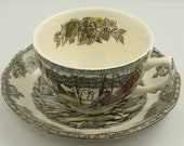 Set of 8 Johnson Brothers Cup Saucer Sets The Friendly Village The Ice House Collection - Argonne Hall, LLC