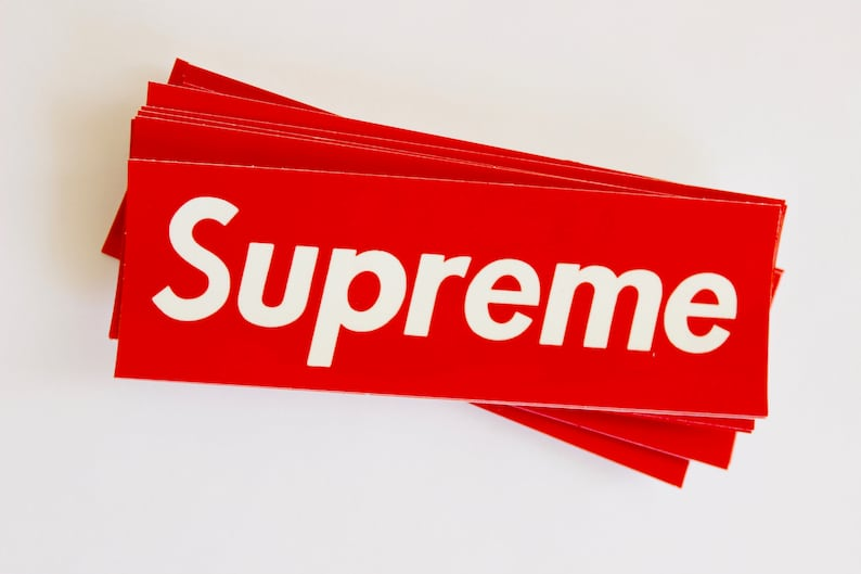 Supreme Box Logo Stickers   Kawaii Stickers hype beast  f4b60a908e5