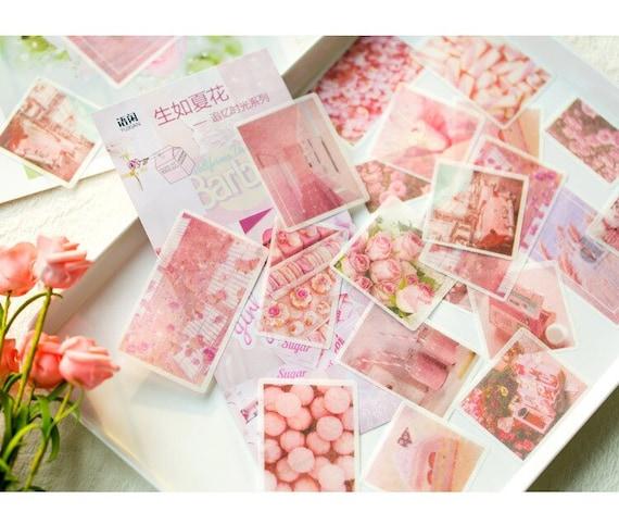 PINK AESTHETIC STICKERS planner bullet journal pens girlfriend gift sticker pack best friend gift custom stickers retro room decor stationer