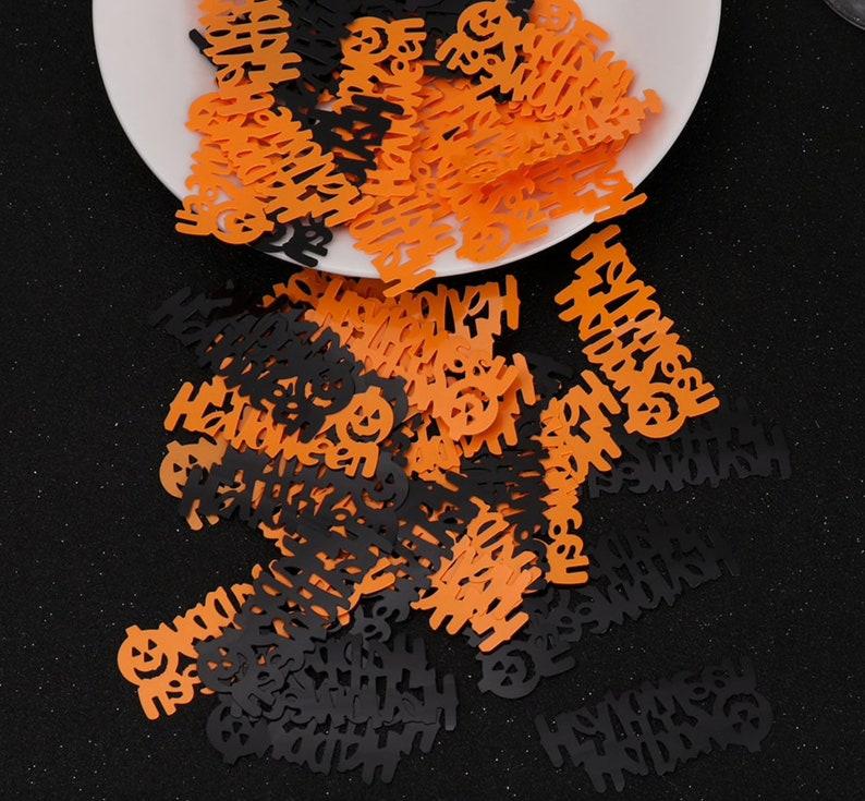 Happy HALLOWEEN GLITTER MIX halloween decor confetti slime supplies holographic glitter rose gold glitter nail glitter uv resin glitter Tumb