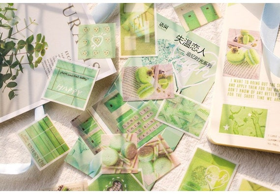 Aesthetic Stickers Green Bullet Journal Planner Stickers Pens Etsy