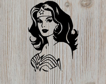 70s Style Wonder Woman Silhouette cut file--Wonder Woman svg file--Wonder Woman cutting file--Wonder Woman for silhouette--Wonder Woman