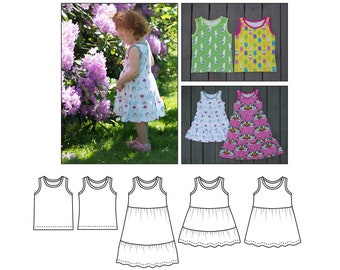 May Dress and Singlet * May Kjole og singlet PDF Norsk English Sewing pattern Jersey