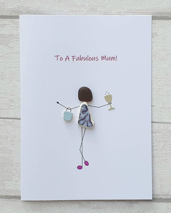 Mothers Day Card Unique Birthday Pebble Card For Mum Funny Handmade Card For Mom To A Fabulous Mum