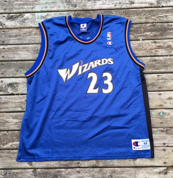 buy online 8849a 385ca Vintage Michael Jordan Washington Wizards 90s Champion NBA Jersey