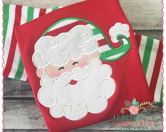 Applique & Embroidery Originals Digital Design 1246 Christmas Santa Claus Swirl Beard Applique Design Embroidery Machine, instant download