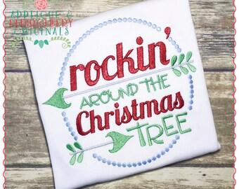 Applique et originaux de broderie numérique Design 1232 Rockin ' autour de l'arbre de Noël Applique Design broderie Machine, téléchargement télécharger for sale  Delivered anywhere in Canada
