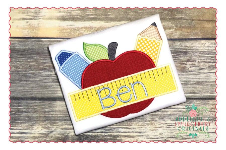 Applique and embroidery originals digital design apple etsy