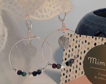 Creole earrings stamped