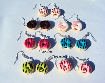 Earrings donuts * pair *.