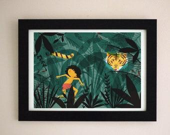 The Jungle Book illustration A4 Giclee Art Print