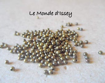 200 beads in bronze size 2mm